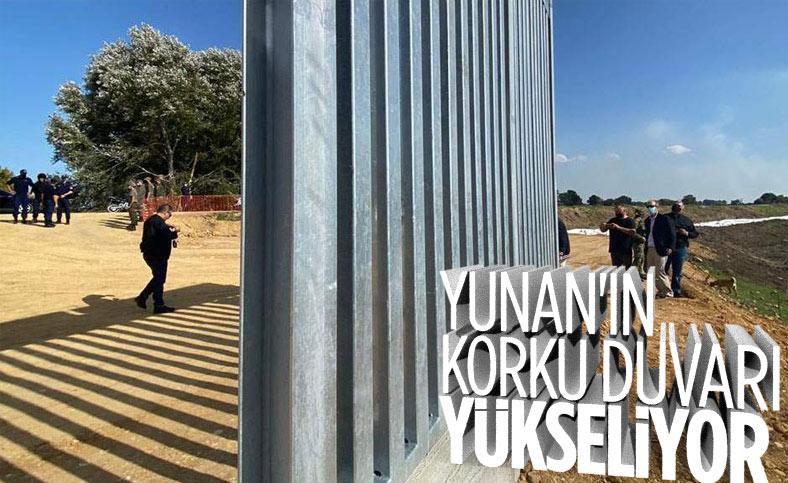 Göçmen karşıtı Yunan, Meriç Nehri hattına duvar örüyor
