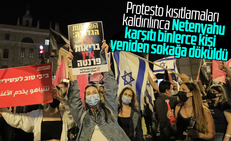İsrail'de Netenyahu karşıtı gösteriler düzenlendi