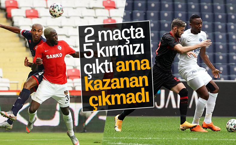 Süper Lig'de nefes kesen maçlarda kazanan çıkmadı