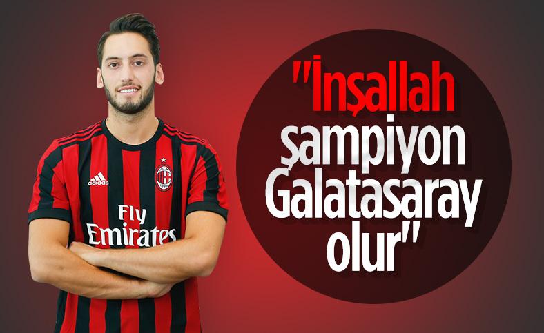 Hakan Çalhanoğlu: İnşallah Galatasaray şampiyon olur