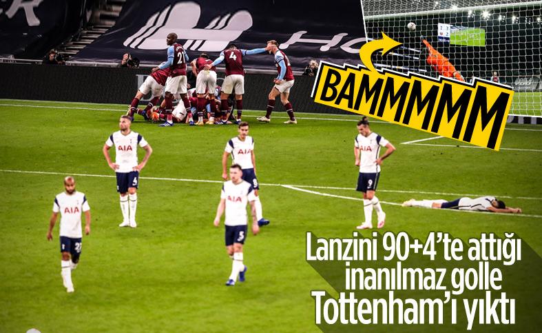 West Ham'dan Tottenham karşısında mucizevi geri dönüş