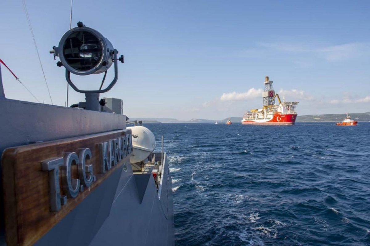 MSB: Kanuni ye Deniz Kuvvetlerimize ait gemiler eşlik ediyor #1