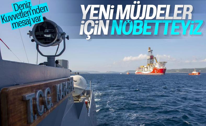 MSB: Kanuni'ye Deniz Kuvvetlerimize ait gemiler eşlik ediyor