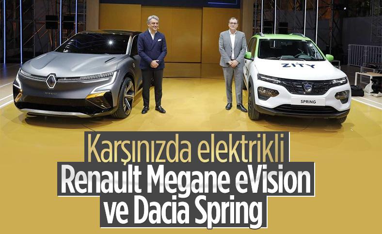 Elektrikli Renault Megane eVision ve Dacia Spring tanıtıldı