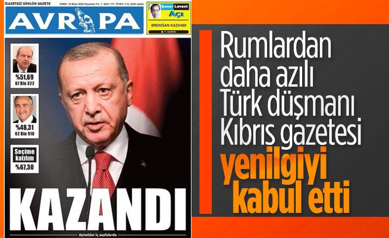 Avrupa gazetesi, Ersin Tatar'ın galibiyetini birinci sayfadan verdi
