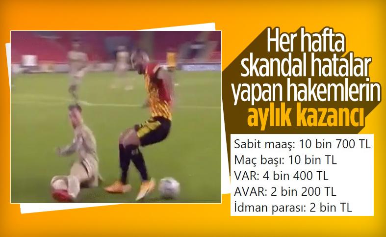 Süper Lig hakemlerinin aylık kazancı