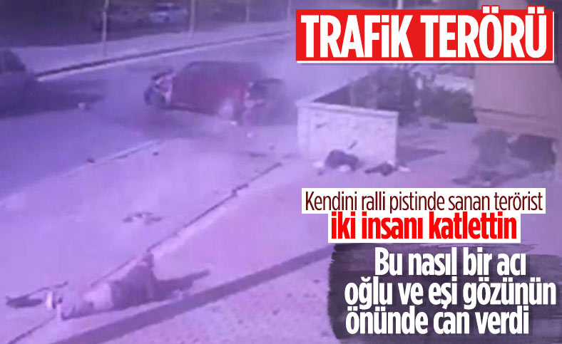 Konya'da baba ve oğlunun öldüğü feci kazanın görüntüsü