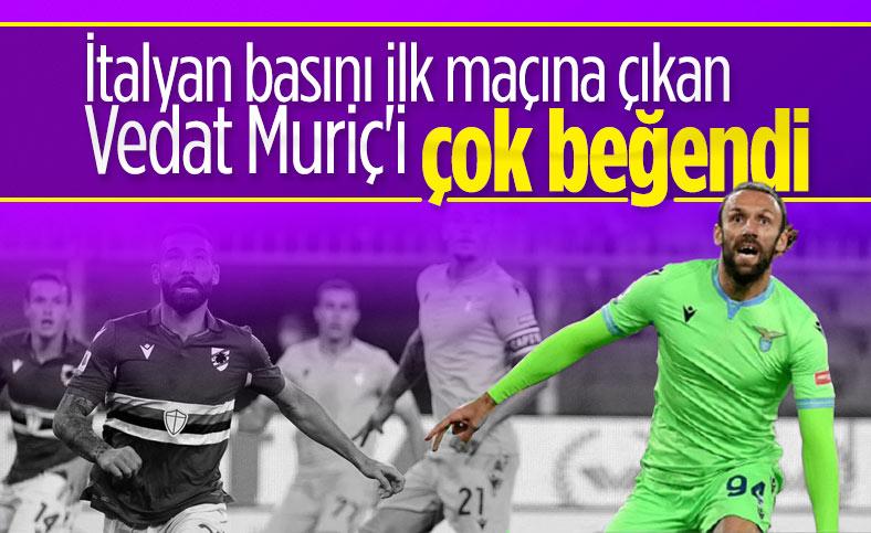 Vedat Muriç, Lazio'daki ilk maçına çıktı