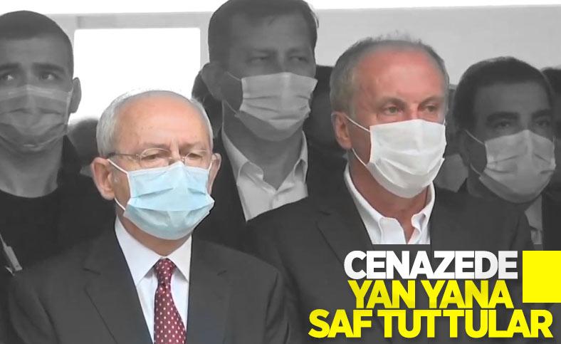 Bekir Coşkun'un cenazesinde Muharrem İnce ve Kemal Kılıçdaroğlu yan yana