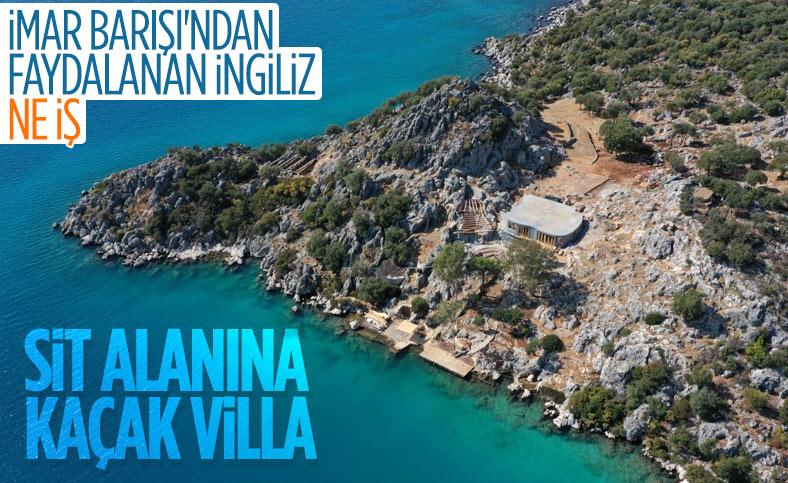 Antalya'da İngiliz şirket, sit alanı olan yarımadaya villa yapmaya başladı