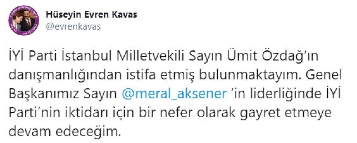 İyi Parti İstanbul ilçe başkanları, Ümit Özdağ ın partiden ihraç edilmesini istedi #2