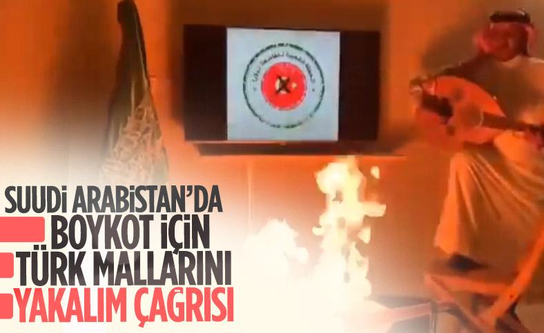 Suudi Arabistan'da Türk yapımı ürünler boykot amaçlı yakılıyor