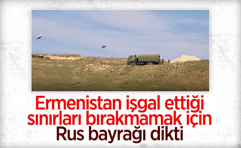 Ermenistan, sınır bölgesine Rus bayrakları dikti