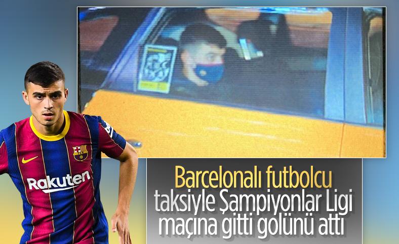 Taksiyle Şampiyonlar Ligi maçına gelen Pedri gol attı