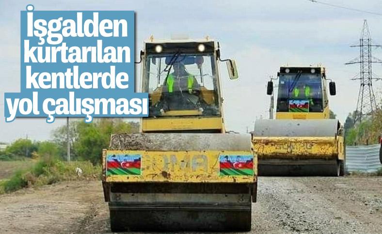 Azerbaycan, işgalden kurtardığı yerlerde yol çalışmasına başladı