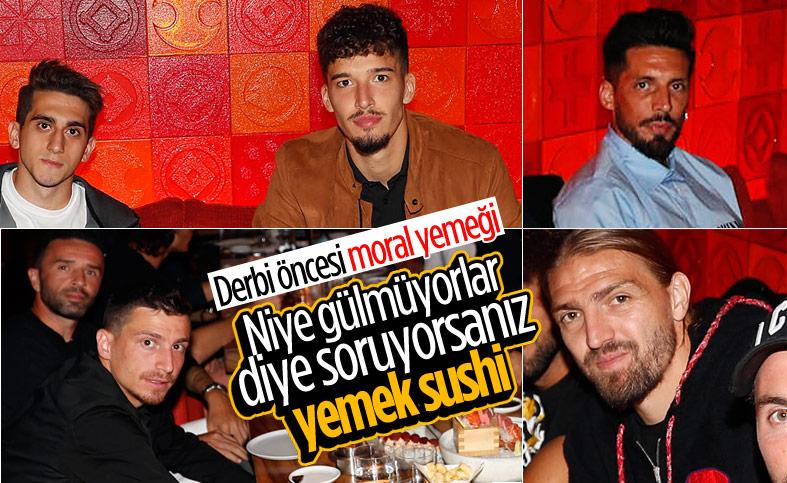 Fenerbahçeli oyuncular, Trabzon maçı öncesi moral yemeği yedi