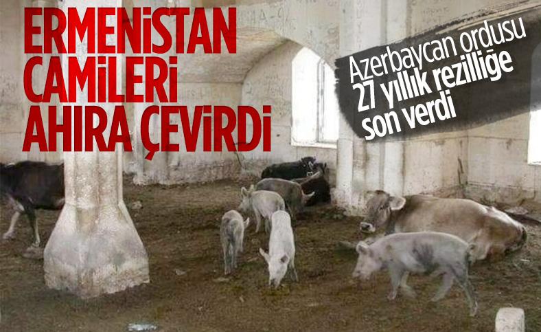 Ermeniler Zengilan'da camiyi domuz ahırına çevirdi