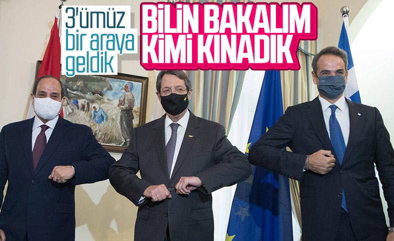 GKRY, Yunanistan ve Mısır liderleri Türkiye'yi kınadı