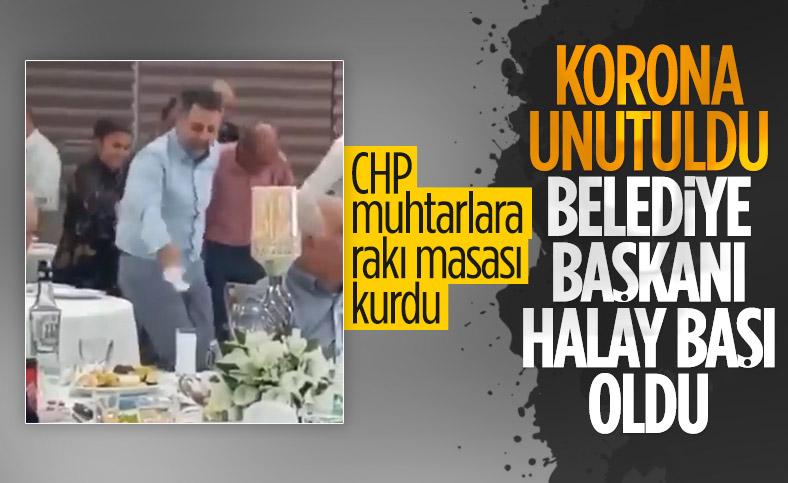CHP'li Belediye Başkanı Serdar Sandal halay başı oldu