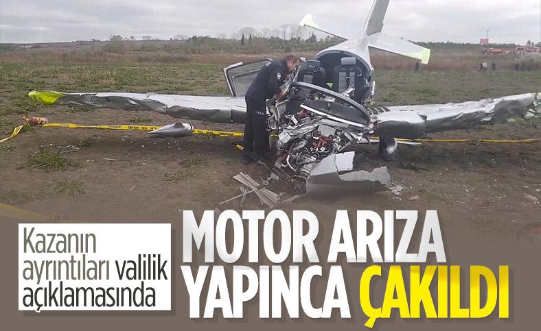 İstanbul Valiliği'nden düşen eğitim uçağı ile ilgili açıklama
