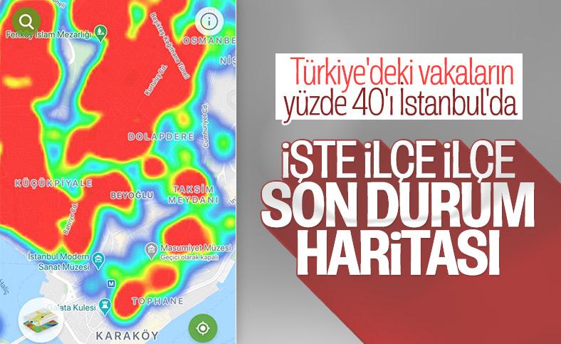 İstanbul koronavirüs risk haritası ilçe ilçe vaka dağılımı