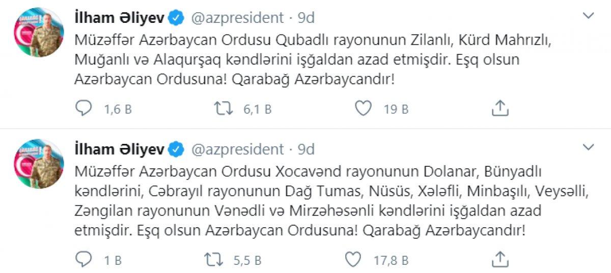 Azerbaycan ordusu, 13 köyü daha işgalden kurtardı #1