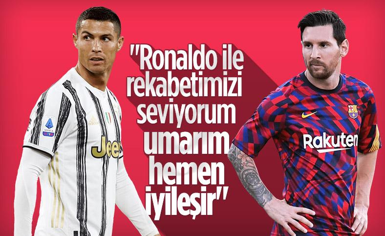 Lionel Messi: Ronaldo ile rakip olmayı seviyorum