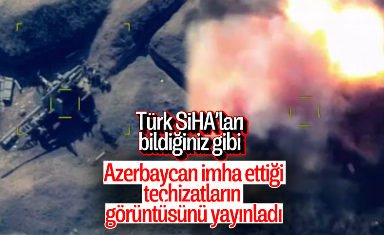 Azerbaycan, imha ettiği teçhizatların görüntüsünü yayınladı