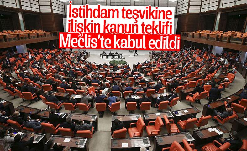 İstihdam teşvikine ilişkin kanun teklifi, Bütçe Komisyonunda kabul edildi