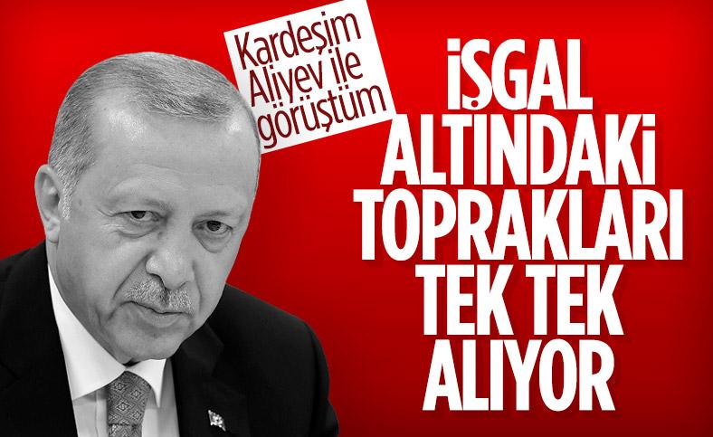 Cumhurbaşkanı Erdoğan: Azeri kardeşlerimiz işgal altındaki topraklara yürüyorlar