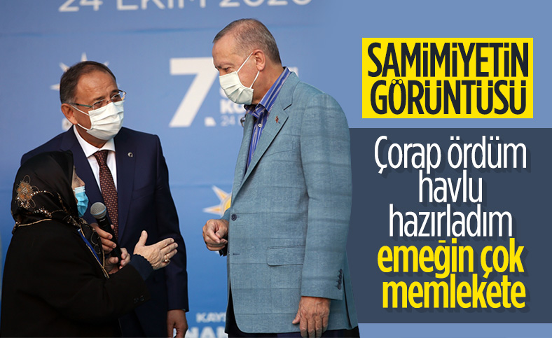 Safiye Teyze ile Cumhurbaşkanı Erdoğan arasında geçen sıcak muhabbet