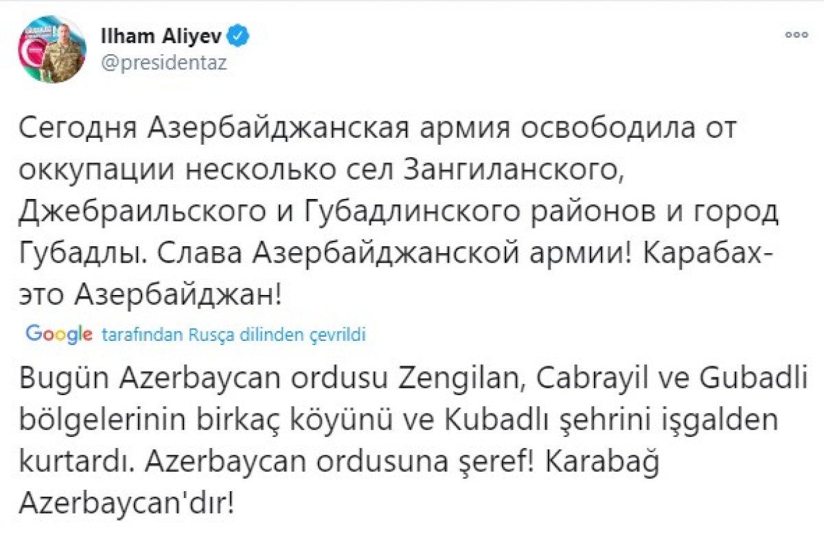 Azerbaycan, Gubadlı kent merkezini işgalden kurtardı #1