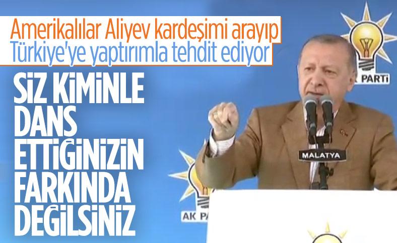 Erdoğan'dan ABD'nin yaptırım tehdidine cevap