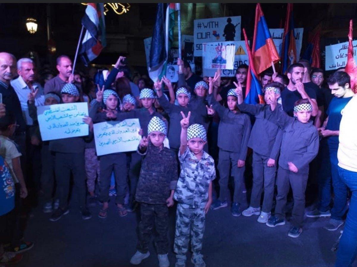 Halep te Ermenistan ı destekleyen bir gösteri düzenlendi #2