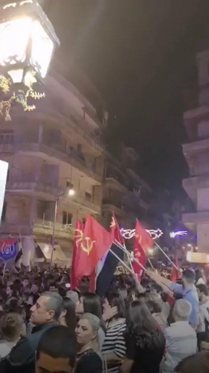 Halep te Ermenistan ı destekleyen bir gösteri düzenlendi #1