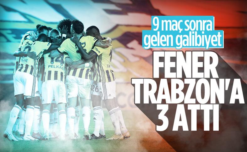 Fenerbahçe, Trabzonspor'u 3 golle yendi