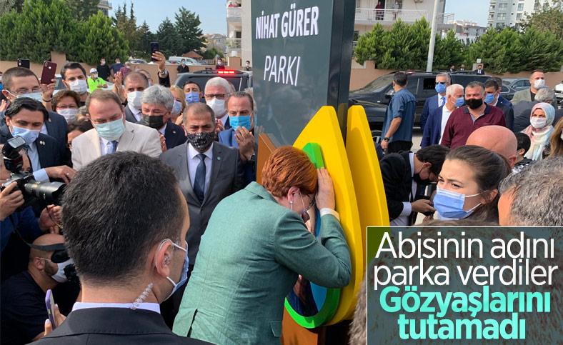 Meral Akşener, İzmir'de abisinin ismi verilen parkın açılışında ağladı