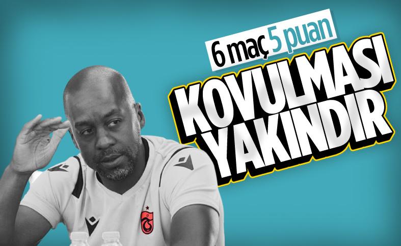 Trabzonspor'da Eddie Newton'un koltuğu tehlikede