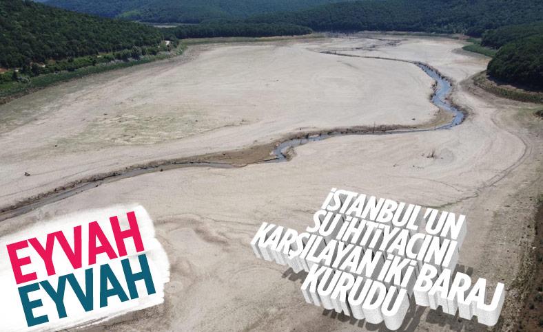 İstanbul'un su ihtiyacını karşılayan Trakya'daki barajlar kurudu