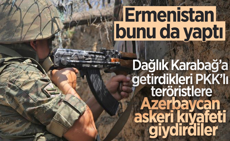 Ermenistan, getirdiği PKK'lılara Azerbaycan askeri üniforması giydirdi