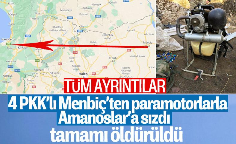 PKK'lı teröristler, Hatay'a paramotorlarla sızdı