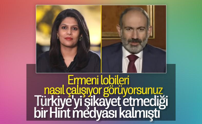 Nikol Paşinyan, Hint basınına Türkiye'yi şikayet etti