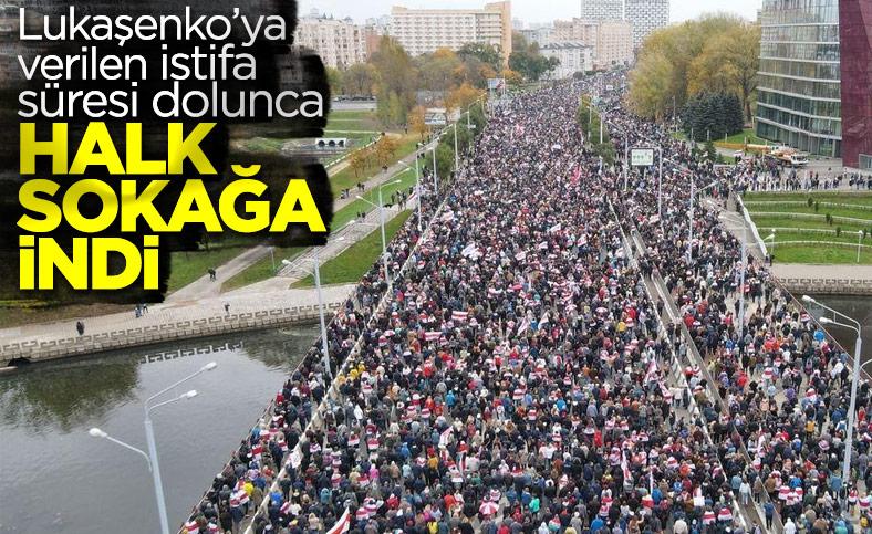 Belarus'ta, Lukaşenko karşıtı halk sokağa döküldü