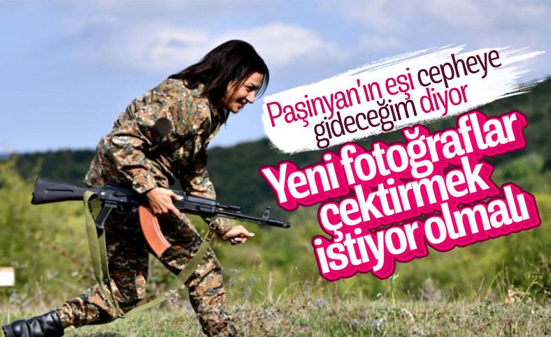 Nikol Paşinyan'ın eşi Anna Hakobyan: Sınırlarımızı korumaya gideceğiz