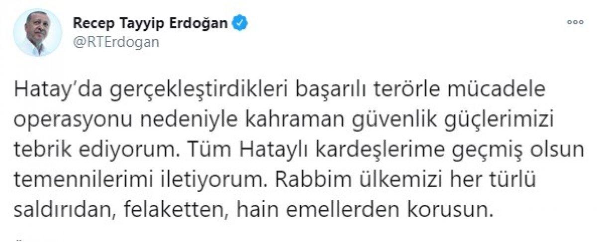 Cumhurbaşkanı Erdoğan: Kahraman güvenlik güçlerimizi tebrik ediyorum #1