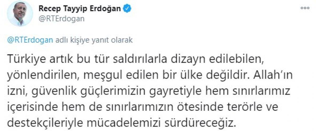 Cumhurbaşkanı Erdoğan: Kahraman güvenlik güçlerimizi tebrik ediyorum #2
