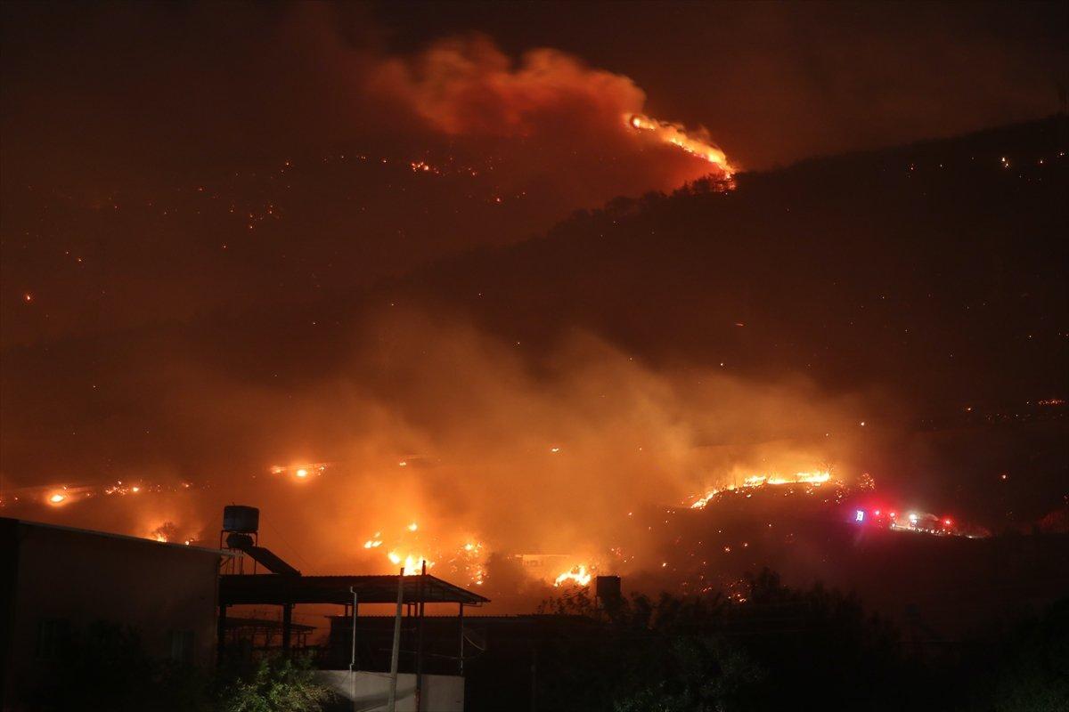 Hatay da bir günde 4 farklı noktada orman yangını #8
