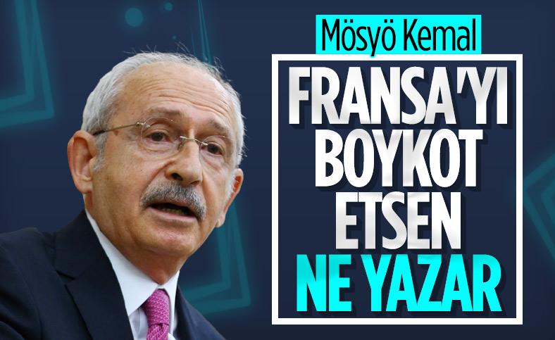 Kemal Kılıçdaroğlu, Fransa'ya boykot çağrısını eleştirdi