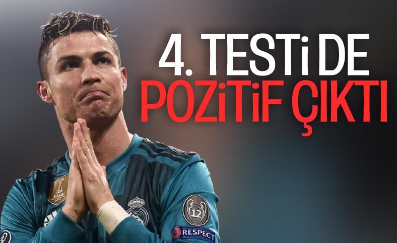Ronaldo'nun üst üste 4. koronavirüs testi de pozitif çıktı