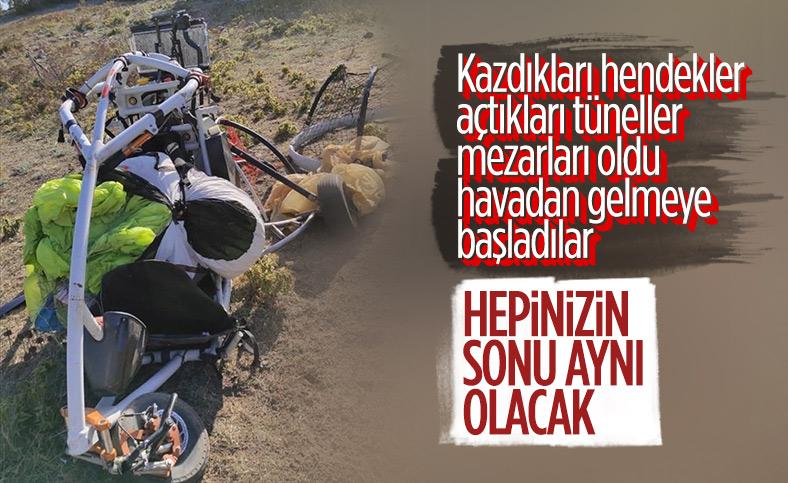 Amanoslar'da terör örgütü PKK'ya ait paramotor ele geçirildi